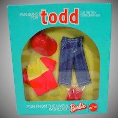 "Vintage NRFB Mattel Todd Outfit, 1974 ""Sport-Fan"