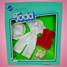 NRFB Mattel European Todd Outfit, A Trip, 1978