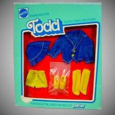 """NRFB Mattel European Todd Outfit, """"Auf Grosser Reise"""", 1978"""