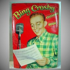 Vintage 1954 Bing Crosby Coloring Book, Un-Used!