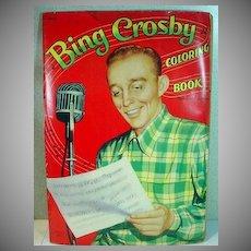 Vintage 1954 Bing Crosby Coloring Book, Un-Used!