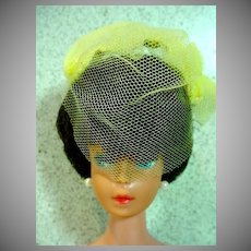 Vintage Mattel Brunette Barbie Bubble Cut in Orange Blossom, 1963