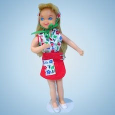 Vintage Mattel Tutti Doll in Day At The Fair, 1966
