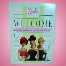 Mattel Barbie Collector's Club Charter Membership Kit, 1996