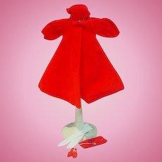 Vintage Mattel Barbie Outfit, Red Flare, Complete, 1962