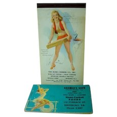 VIntage Pin Up Girl Advertising Pieces, 1943 and 1953