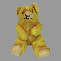 Vintage Straw Stuffed, Jointed 5 Inch Teddy Bear