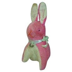 Charming 1950's Stuffed Pink Bunny, Made in Japan