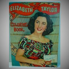 Whitman Elizabeth Taylor Coloring Book, 1950