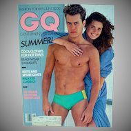 Vintage Gentlemen's Quarterly Fashion Magazine, Bruce Weber Photo's, 1981