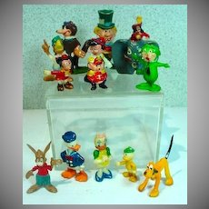 Vintage Lot of Marx Handpainted Disneykins, 1960's