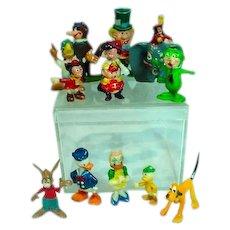Vintage Lot of Marx Handpainted Disneykins, 1960's