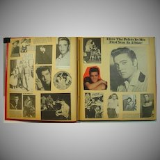 Vintage Elvis Presley Fans Handmade Scrapbook, 1970's Clippings, Magazine Covers etc.