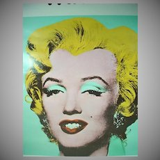 Andy Warhol Marilyn Monroe Tate Gallery/London Exhibition Poster