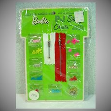 NRFB Mattel Barbie Pak Stitch 'N Style Set, 1970
