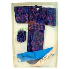 Beautiful Japanese Kimono for 11 1/2 Inch Fashion Doll