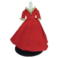 Original Madame Alexander Agatha, Cissette Red Velvet Gown, 1968