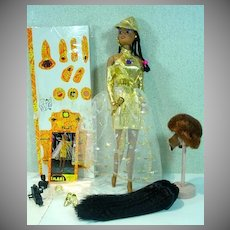 Imani The African American Princess Fashion Doll w/Wigs, Olmec Toys, 1994