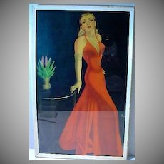 Framed 1940's Pin Up Glamour/Cheese Cake Print!