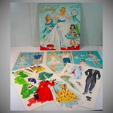 Merrill Heavenly Blue Wedding Paper Dolls, 1955