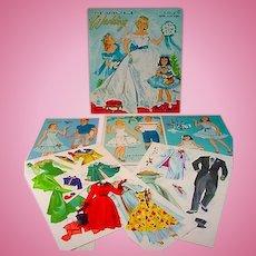 Merrill Heavenly Blue Wedding Paper Dolls, 1955
