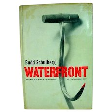 First Edition, 1955 novel, Waterfront by Budd Schulberg w/DJ
