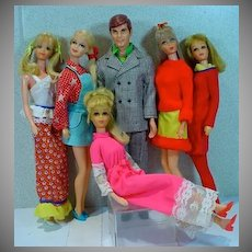 Vintage Mod Mattel Barbie&Friends Lot, 1960's-70's