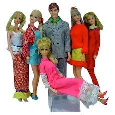 Vintage Mod Mattel Barbie&Friends Lot, 1960's-70's