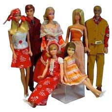 Vintage Mattel Barbie and Friends, 1970's Lot, 7 Dolls Dressed!
