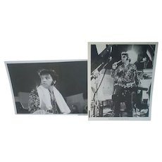 1970 B&W Elvis Presley Concert 8X10 Concert Photos