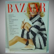 July 1966 Issue Harper's Bazaar Fashion Magazine, MOD!