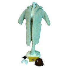 Vintage Mattel Barbie Outfit, Peachy Fleecy Coat, 1960