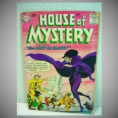 "DC House of Mystery Comic Sept. 1958 No. 78 ""Lady in Black"" Cover"