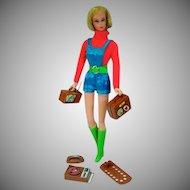 VIntage Mattel Busy Talking Barbie, 1972, w/ Accessories