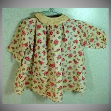 Vintage 1930's Floral Cotton Doll Dress