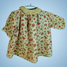 Vintage 1930's Floral Cotton Doll Dress