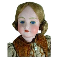 "Simon & Halbig Heinrich Handwerck 28"" German Bisque Head Doll with Composition Body"