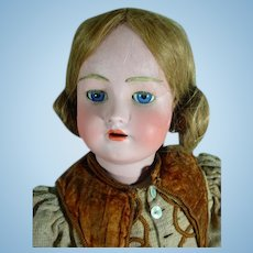 "Simon & Halbig Heinrich Handwerck 28"" German Bisque Head Doll with Composition Body"