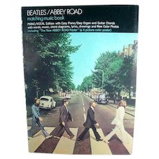 Original Beatles Abbey Road Music Book with Abbey Road color Poster intact, 1969