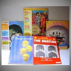 Vintage Lot of Original Beatles Music Books w/Posters, 1960's