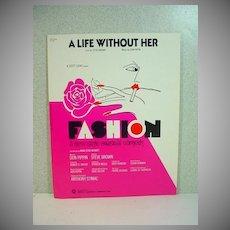 Rare Sheet Music from B'way Show, Fashion, 1974