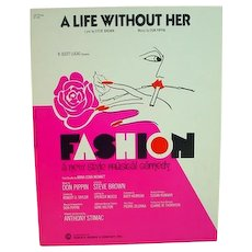 Rare Sheet Music from B'way Show, Fashion, 1974