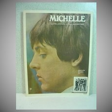 Original Beatles Sheet Music, Michelle, 1965