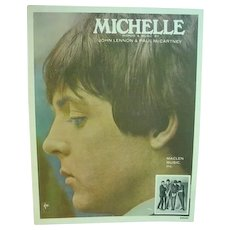 Original Beatles Sheet Music, Michelle, 1965