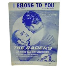 Rare Film Sheet Music from The Racers, 1955 Alex North
