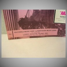 "Rare Sheet Music Film Theme , 1966""Arabesque"" Henry Mancini"