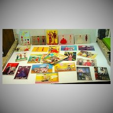 Over Fifty Nostalic Barbie & Friends Post Cards, Un-used, 1990's