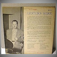 Lester Young, Lester's Here 1st. Pressing, Norgram Label, Hi Fi Record, 1956