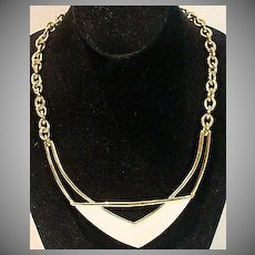 Vintage 1980's Abstract Monet Summer Necklace!