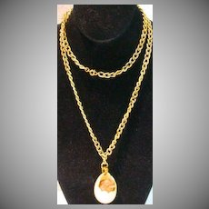 Vintage Razza Chick in an Egg Pendant Necklace, 1970's